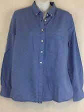 GAP Women's Light Blue Button Down Shirt Top Blouse Long Sleeve Size Medium