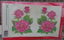 Meyercord Vintage Water Applied Decals Transfers Pink Roses Xl size