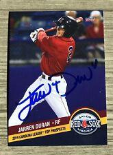 Jarren Duran Signed 2019 Salem Red Sox Carolina League Top Prospects Auto Card