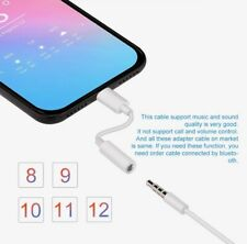 IPhone XR/ XS MAX Headphone Earphone Adapter Cable Lighting To Aux Same Day Post