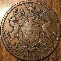1841 CANADA NEWFOUNDLAND RUTHERFORD BROS HALFPENNY TOKEN - Breton 952