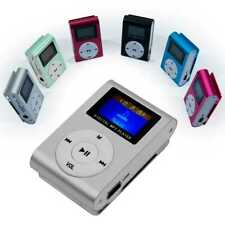 Stereo Metall Clip MP3 Silber Mini Player FM Radio LCD Display bis 32GB Micro SD