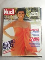 N2209 Magazine Paris-Match N°1881 14 juin 1985 Raquel Welch, train de rêve...