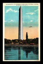 DR JIM STAMPS US WASHINGTON MONUMENT POTOMAC RIVER WASHINGTON DC POSTCARD
