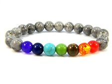 Chakra Beaded Bracelets Healing Gemstones Agate Beads Yoga Bangle Charms