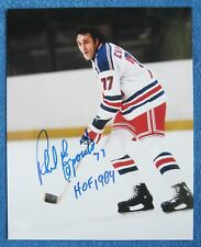 PHIL ESPOSITO AUTOGRAPHED NEW YORK RANGERS 8X10 COLOR GLOSSY PHOTO; HALL OF FAME
