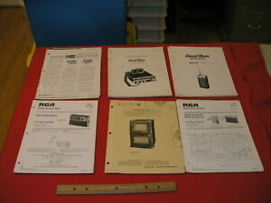 Lot of 12 RCA Radio Service Data Flyers 4 Channel Master Service Manuals