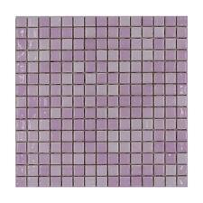 CERAMICA DI TREVISO mosaico da rivest. 2x2 miscela ROSA MIX inciso (fogli 30x30)