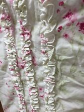 Simply Shabby Chic Pink Green Ruffled Shower Curtain