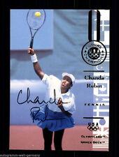 Chanda rubin top Upper Deck plástica original firmado tenis +a47399