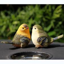 2 Resin vivid birds Statue Figurine Model home garden desk decor ornament