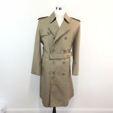 Vtg 70s 80s Oleg Cassini Weather Ready Trench Coat Zip Out Lining Mens Size 42 L