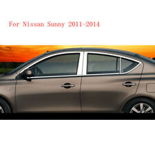 Stainless Steel Chrome Window Sills+Pillar Posts Trims Cover For Nissan Sunny
