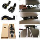 Set of 4 Car Seat Headrest Hook Organizer for Purse Bag Hanger Storage - Black