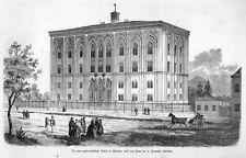 München, Geburtshilfe - Klinik, Original-Holzstich von 1858