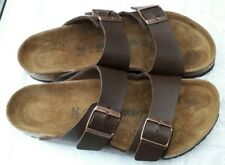 BIRKENSTOCK BROWN ARIZONA SANDALS - UK 8, EUR 42 - REGULAR FIT
