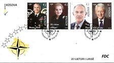 Kosovo Stamps 2019. CLINTON USA President, BLAIR, ALBRIGHT, CLARCK NATO. FDC MNH