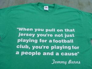 Celtic Tommy Burns Tribute T-Shirts Inc 4XL & 5XL Birthday Christmas Gift