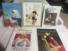 Lot 5 Children's CHRISTMAS BOOKS Precious Moments Jesus Max Lucado