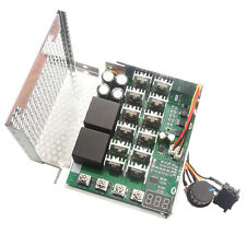 DC 12-48V 60A Digital LED Motor Variable Speed Controller Reversible Switch New
