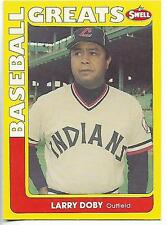 1990 Swell Baseball Greats Larry Doby card, Cleveland Indians HOF