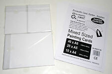 Encaustic Art Mixed Sized Painting Cards High Quality White Card #995377.00 NEW