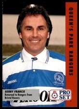 Pro Set Football Fixtures 1991-1992 Queen's Park Rangers Gerry Francis #16