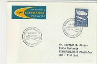 Sweden 1964 Boeing Jet Flight Stockholm-Frankfurt Airmail Stamps Cover Ref 29400