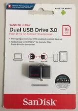 SanDisk 16GB Ultra Dual USB Drive 3.0 PC & Android OTG Memory Stick Thumb Flash
