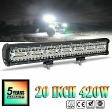20 Inch 420W LED Work Light Bar Flood Spot Combo Driving Lamp Car Truck Offroad