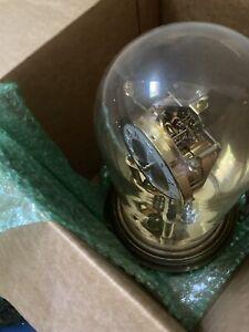 KUNDO Germany Brass & Glass Dome Anniversary Clock Kieninger & Obergfell