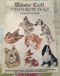 Lovely Webster Craft Favourite Dogs Transfer Patterns (Embroidery/Fabric Paint)