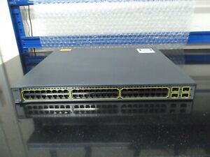 Cisco Catalyst 3750 Series  WS-C3750G-48PS-E  48 Port Gigabit POE Switch