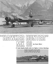 Model Airplane Plans (RC): Hawker Hunter Mk 58 1/6 Scale by Franz Meier