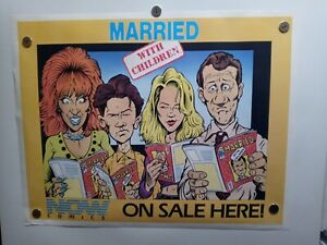 Married With Children Now Comics Promo Poster  23 X 18  RARE