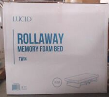 "NEW Lucid Rollaway Folding Guest Bed 4"" Twin Memory Foam Mattress $310.60"