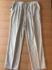 Eddie Bauer Mens Pleated Pants Sand 38 x 33 Nos Elasticized Waist
