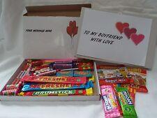 45 PIECE RETRO SWEETS GIFT  BOX BOYFRIEND FREE PERSONALISED MESSAGE