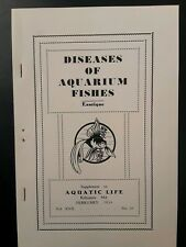 Vintage Old Fish Bowl - Diseases Of Aquarium Fishes - Booklet 1934 Tropical Gold