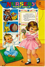 VINTGE UNCUT 1969 NURSERY PAPER DOLL ~SAALFIELD~ FUN LASER REPRODUCTION~LO PRICE