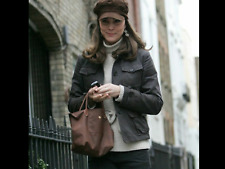 """🍫COCOA BROWN LONGCHAMP Tote Bag Purse LE PLIAGE Leather Accents Type """"S"""""""