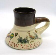 New Mexico Coffee Cup Mug No Spill Rubber Bottom Roadrunner Hot Air Balloons