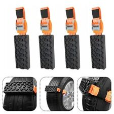 Set Of 4 Car Tire Wheel Anti-Skid Snow Chains For Ice/Mud/Sand Road Safe Driving