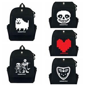 Anime Undertale Backpack Schoolbag Canvas Travel Laptop Knapsack Satchel Gift A1