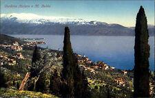 Gardone Riviera Lombardei Italien Color AK ~1910 Panorama Blick auf Monte Baldo
