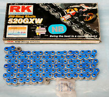 chaine de transmission BLEU RK 520 GXW 100 MAILLONS avec rivet neuf
