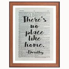 Wizard of Oz - Dorothy - quote  -  dictionary page art print collect - no place