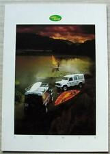 LAND ROVER COUNTY 90 & 110 4x4 Sales Brochure Oct 1986 #LR406 ISSUE ONE