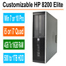 HP Desktop PC 8200/6200 Elite Windows 7/10 Intel i5/i7 Quad Core 4GB, 8GB, 16GB