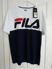 Nwt Authentic Fila T-Shirts Graphics lenox logo tee lm181l33 410 Mens L Large